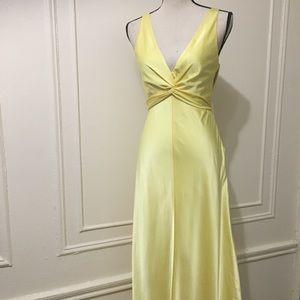 BCBGMaxAzria Dresses - BCBG Yellow Gown